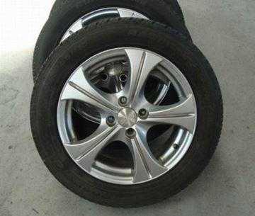 Billede af Fiat Punto komplet hjulsæt